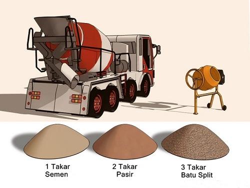 tips membuat campuran beton sendiri