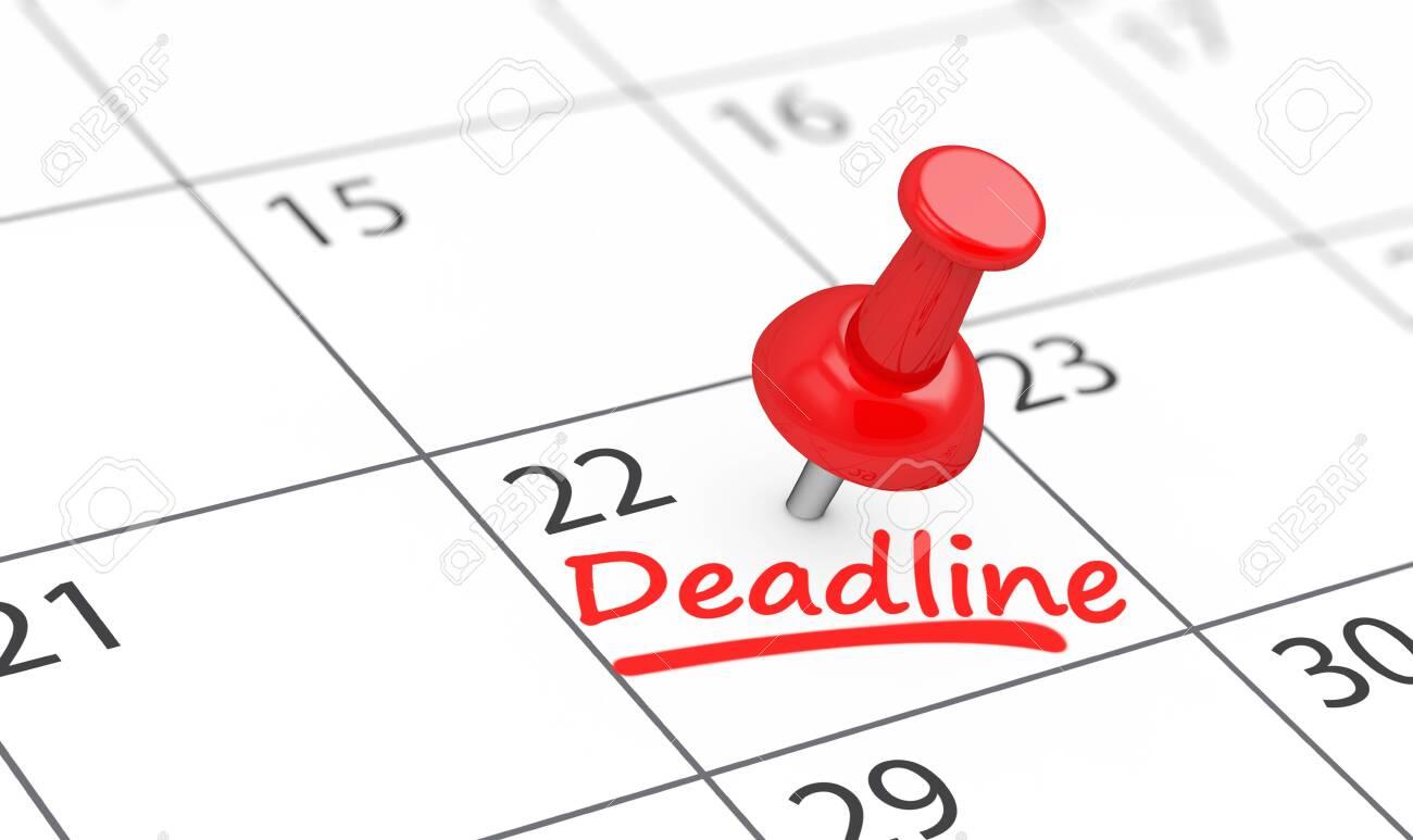Business Deadline Calendar Concept