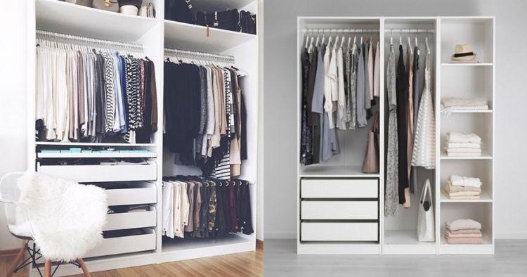 lemari pakaian tanpa pintu