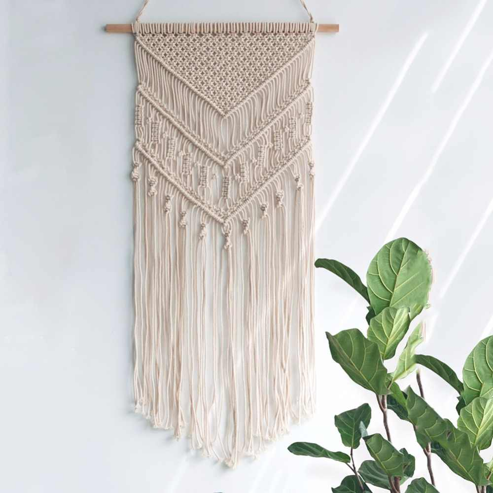 motif anyaman khas tali makrame