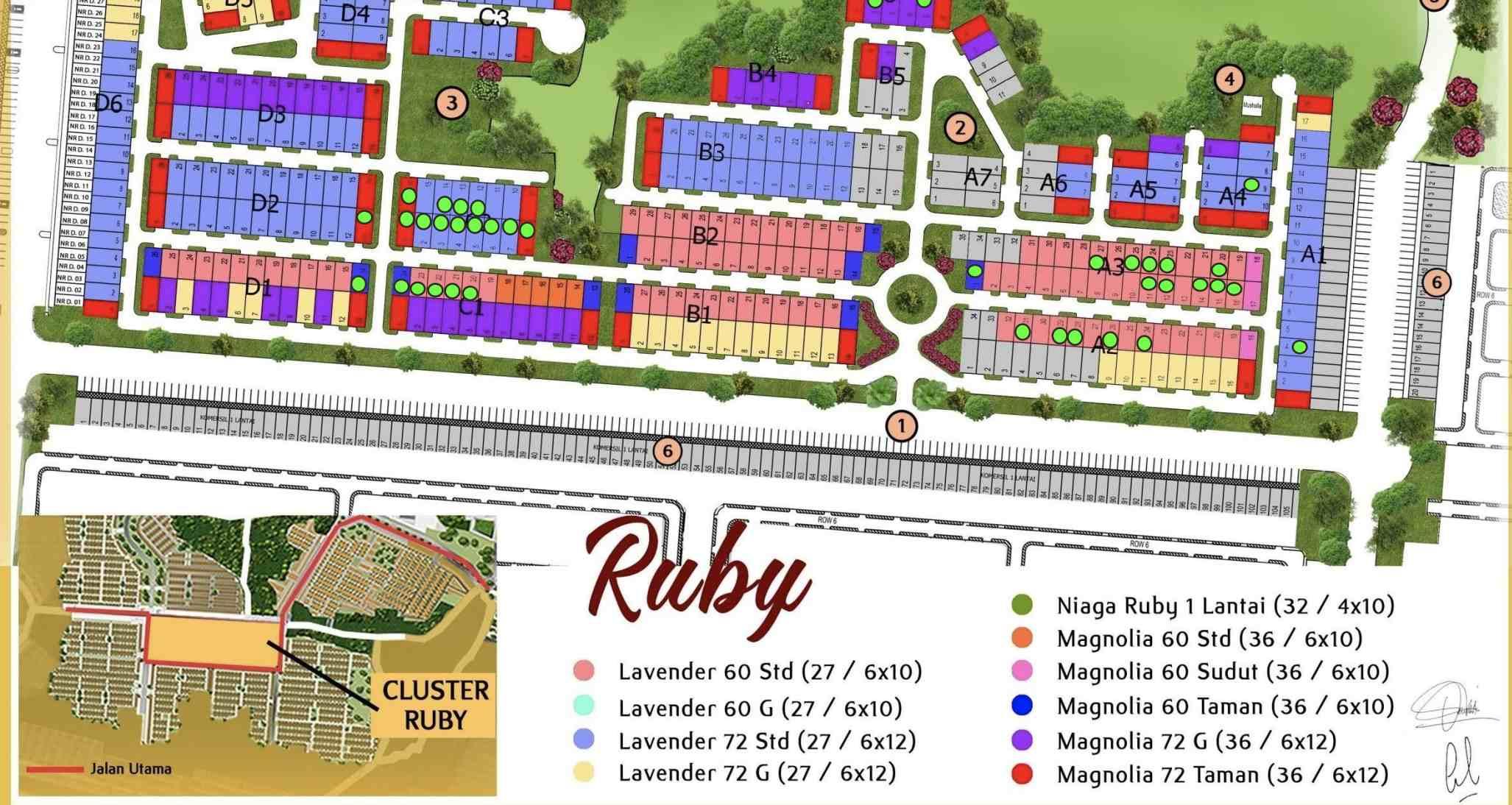 map cluster ruby permata mutiara maja