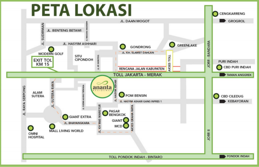 lokasi ananta residence tangerang
