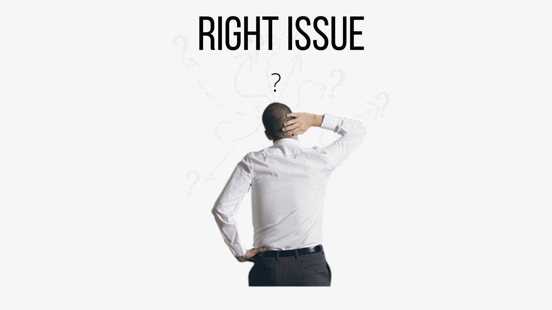right issue ilustrasi